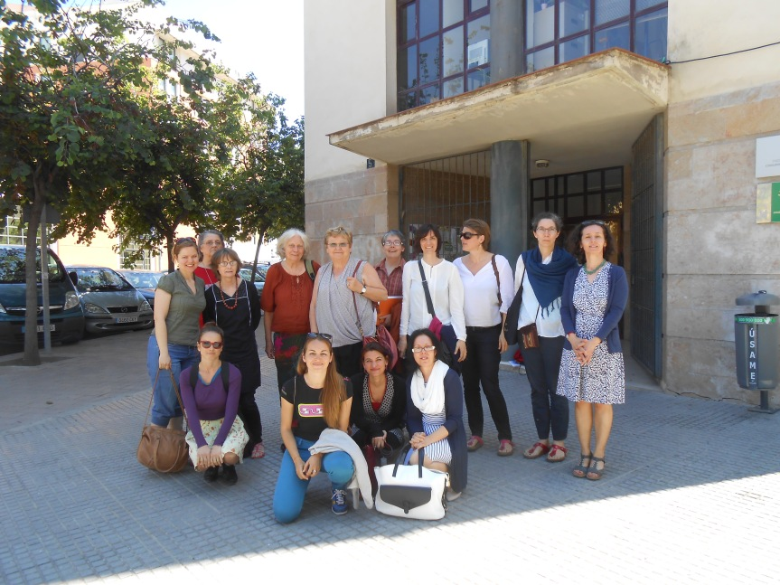 Some WIDE+ members at a meeting in South Spain, April 2015