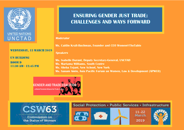 CSW Event flyer UNCTAD GTC